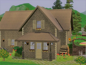 Sims 3 — Little Cottage empty no CC by sgK452 — Small empty house without CC to furnish. The exterior is decorated, I was