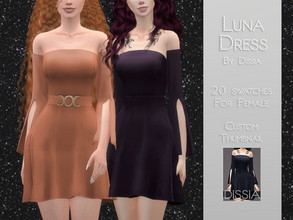 Sims 4 — Luna Dress by Dissia — Luna Dress 20 swaches Triple Moon Accessory not included in dress, you can find it in