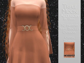 Sims 4 — Triple Moon Accessory by Dissia — Triple Moon Accessory 10 swaches Skin Painted Made for Luna Dress, but if you