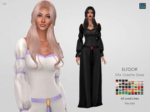 Sims 4 — Sifix Odette Dress RC by Elfdor — Its a standalone recolor of Sifix dress and you will need the original mesh