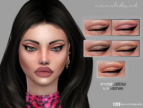 Sims 4 — Eyeshadow MM13 by mermaladesimtr — 5 Swatches All ages For; Female