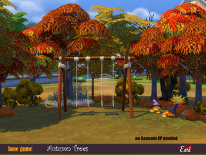 Sims 4 — Autumn trees by evi — A set of trees in the autumns colours