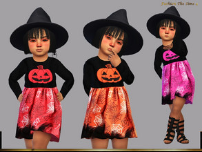 Sims 4 — Dress Camilla baby by LYLLYAN — Dress in 8 colors. You must own the latest toddler stuff pack to be able to see