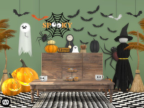 Sims 4 — Hafnium Halloween Decorations by wondymoon — Let's decorate your Sim's house for Halloween! Have fun! - Set