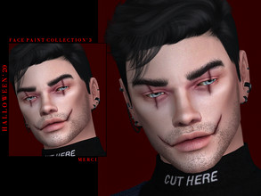 Sims 4 — Halloween'20 Face Paint Collection'3 by -Merci- — New Face Paint for Sims4! Unisex, teen-elder. HQ mod