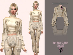 Sims 4 — Set-Top C230 by turksimmer — 9 Swatches Compatible with HQ mod Works with all of skins Custom Thumbnail New Mesh