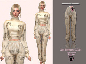 Sims 4 — Set-Bottom C231 by turksimmer — 9 Swatches Compatible with HQ mod Works with all of skins Custom Thumbnail New