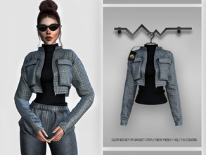Sims 4 — Clothes SET-91 (JACKET+TOP) BD345 by busra-tr — 10 colors Adult-Elder-Teen-Young Adult For Female Custom