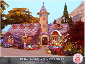 Sims 4 — Restaurant Pumpkin Pie by MikkiMur_sims — I wanted to create a place when sims can celebrate Halloween and