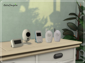 Sims 4 — Baby Monitors by Katiesimspire — Decoration set with baby monitors. Items in the set: - Camera - Video baby