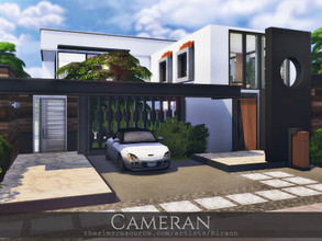 Sims 4 — Cameran by Rirann — Cameran is a contemporary house for a middle sim family. Fully furnished and decorated.