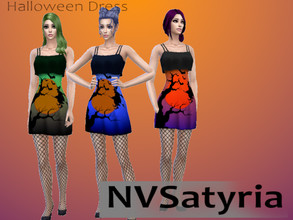 Sims 4 — NVS_Halloween 2020 Dress by NVSatyria2 — Base Game Recolor, fitting for Halloween! Enjoy!