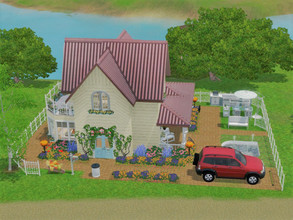 Sims 3 — Cottage Joli Coeur no cc by sgK452 — Small dollhouse for your sims with all the comforts of a big house. Open