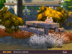 Sims 4 — Autumn plants by evi — Summer is ended. Welcome autumn with beautiful colours