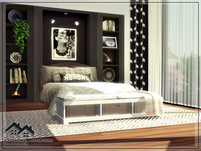 Sims 4 — CONCORD - Bedroom by marychabb — I present a room-bedroom that is fully equipped. Tested. Cost: $ 10,467 Size: