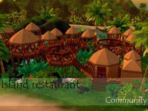 Sims 4 — Island restaurant by Anny_M4 — Here is an island restaurant in Sulani. It has a lot of small