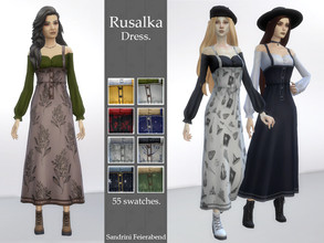 Sims 4 — Rusalka Dress by Sandrini_Feierabend — Created for: The Sims 4 Rusalka is a character in East Slavic mythology.