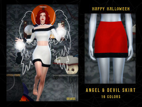 Sims 4 — Angel & Devil Skirt by OranosTR — I made Angel and Devil themed creations. So hope you like them. ^_^ - New