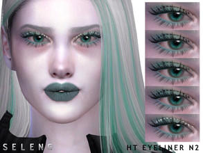 Sims 4 — HT Eyeliner N2 by Seleng — Female Teen to Elder 6 swatches Custom Thumbnail HQ compatible The picture was taken