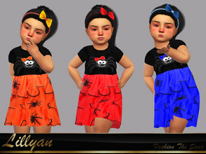 Sims 4 — Dress baby Kelly by LYLLYAN — Dress in 5 colors . You must own the latest toddler stuff pack to be able to see