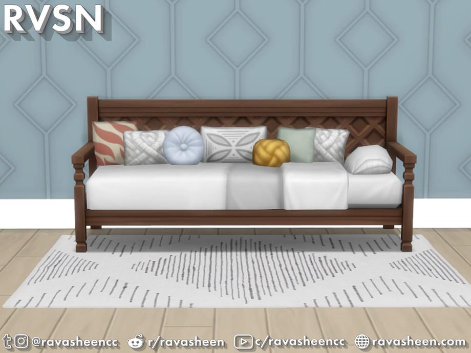 Sims 4 - Bedder Than A Couch Daybed Frames de RAVASHEEN - Aprovecha al máximo la casa de tu Simmie con Bedder Than A