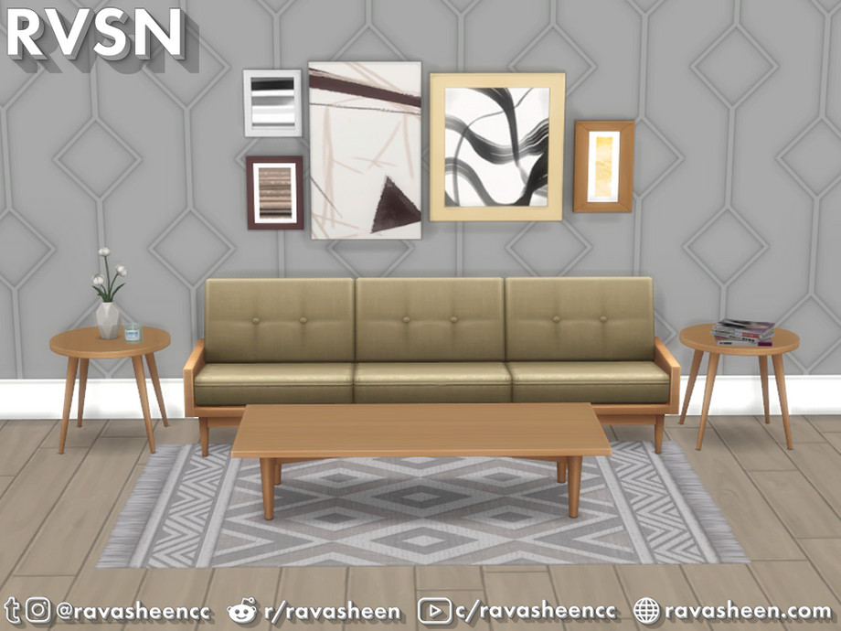 Sims 4 — Tables Have Turned Table Set by RAVASHEEN — The Tables Have Turned Table Set includes 3 end tables and 4 coffee