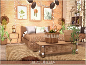 Sims 4 — Coconut Bedroom by MychQQQ — $ 17,802 Size: 7x7