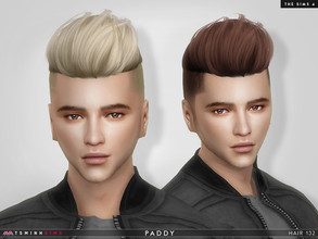 Sims 4 — Paddy ( Hair 132 ) by TsminhSims — New meshes - 20 colors + 20 colors without hairbase - HQ texture - Custom