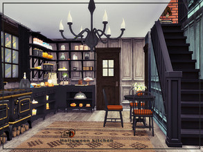 Sims 4 — Halloween kitchen by Danuta720 — $16230 Size: 5x9 The room was created on the short wall.