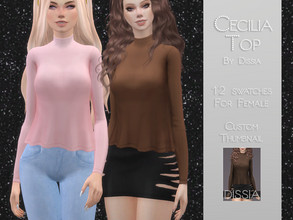 Sims 4 — Cecilia Top by Dissia — Cecilia Top 12 swatches Hope you like it ;)