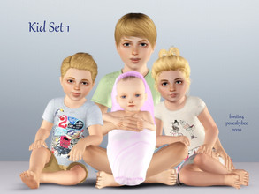 Sims 3 — Kid Set 1 - Child Portrait Set by jessesue2 — *5 poses *pose list compatible *poses snap together as designed