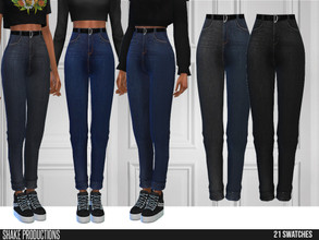 Sims 4 — ShakeProductions 548 - Jeans by ShakeProductions — Bottoms/Jeans New Mesh All LODs Handpainted 8 Colors