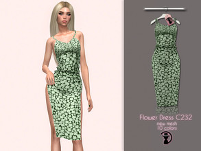 Sims 4 — Flower Dress C232 by turksimmer — 10 Swatches Compatible with HQ mod Works with all of skins Custom Thumbnail