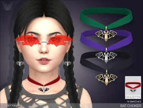 Sims 4 — Bat Velvet Choker For Kids by feyona — This choker is a perfect match for my bat drop earrings (please see