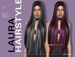 Sims 3 — LeahLillith Laura Hairstyle by Leah_Lillith — Laura Hairstyle All LODs Smooth bones Custom CAS thumbnail