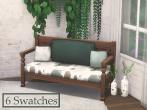 Sims 4 — Painted Cute Mahogany Bench Recolor by MariekGaming — A great bench with 6 super cute paint swatch colors! A