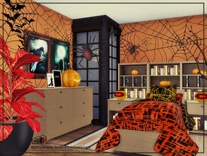 Sims 4 — Halloween bedroom[young] by Danuta720 — $17503 size: 4x8 The room was created on the short wall. CC's needed for
