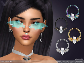 "Sims 4 — Bat Crystal Septum Nose Ring by feyona — Look for this nose ring in the ""left nose ring"" cas"