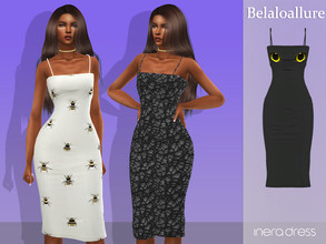 Sims 4 — Belaloallure_Inera dress by belal19972 — Spooky midi dress for your sims ,enjoy :)