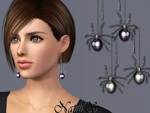 Sims 3 — NataliS TS3 Haloween spider earrings by Natalis — Haloween spider earrings. FT-FA-FE