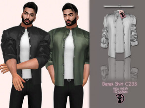 Sims 4 — Derek Shirt C233 by turksimmer — 10 Swatches Compatible with HQ mod Works with all of skins Custom Thumbnail New
