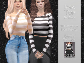 Sims 4 — Irma Top by Dissia — Irma Top 10 swatches Hope you like it ;)