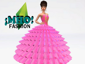 Sims 4 — rosita 15 mexican by MARIOBRO0S — beautiful Mexican quinceanera dress different colors, ideal for teenagers is