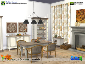 Sims 4 — kardofe_Autumnus Dining by kardofe — Set of fifteen new tights, to recreate a comfortable dining room of