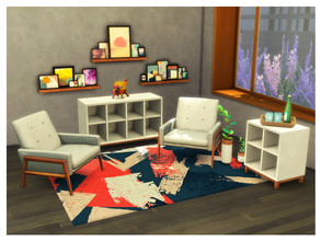 Sims 4 — Antara Line by ImFromSixam — Looking for a new Living Room set? Your Sims needs more storage in their house?