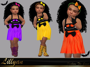 Sims 4 — Dress Melissa baby by LYLLYAN — Dress in 8 colors. You must own the latest toddler stuff pack to be able to see