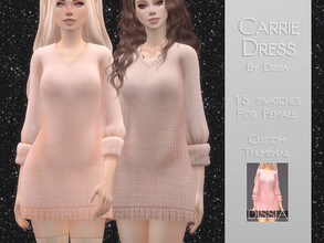 Sims 4 — Carrie Dress by Dissia — Carrie Dress 15 swatches Hope you like it ;)