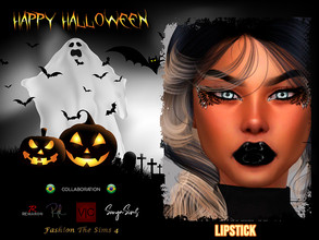 Sims 4 — Halloween Lipstick Angel -Collaboration BR by LYLLYAN — Lipstick in 5 colors.
