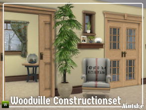 Sims 4 — Woodville Constructionset Part 4 by Mutske — This is the forth part of the Woodville Construction. These are