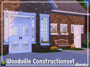 Sims 4 — Woodville Constructionset Part 6 by Mutske — This is the sixth part of the Woodville Construction. These are